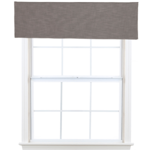 flat window valance on window