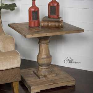 Reclaimed wood rustic end table Impressive Windows & Interiors Hastings MN