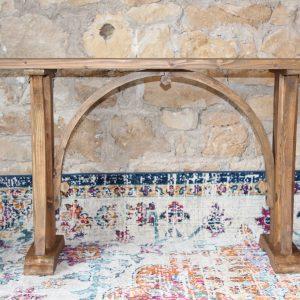 Rustic wood console table Impressive Windows & Interiors Hastings MN