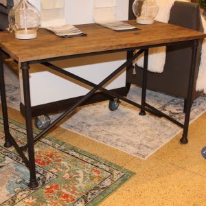 wood and metal rustic industrial table Impressive Windows and Interiors Hastings MN