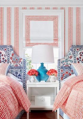 Thibaut fabric trim and wallpaper at Impressive Windows & Interiors Hastings MN