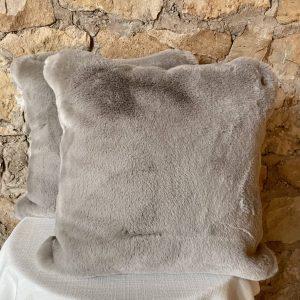 gray faux fur pillow lapalapa
