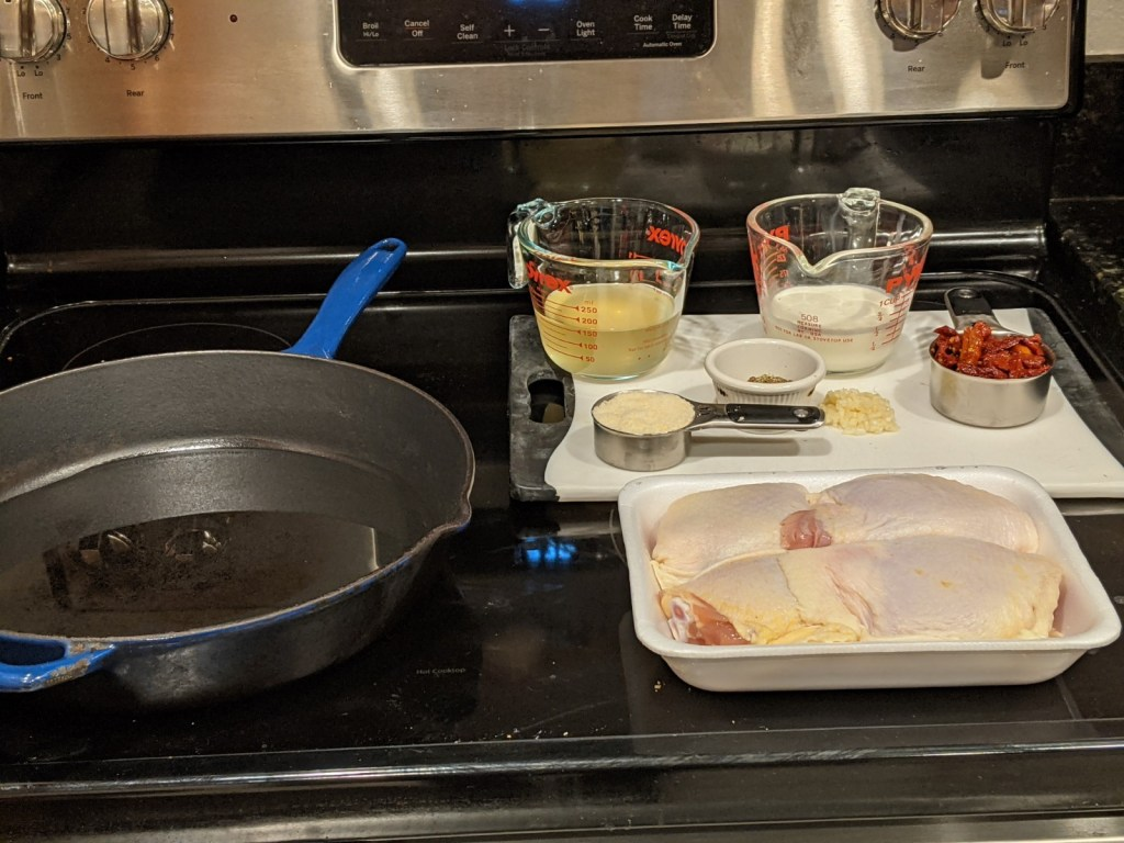 Prep and organize all your ingredients (mise en place) before you begin cooking