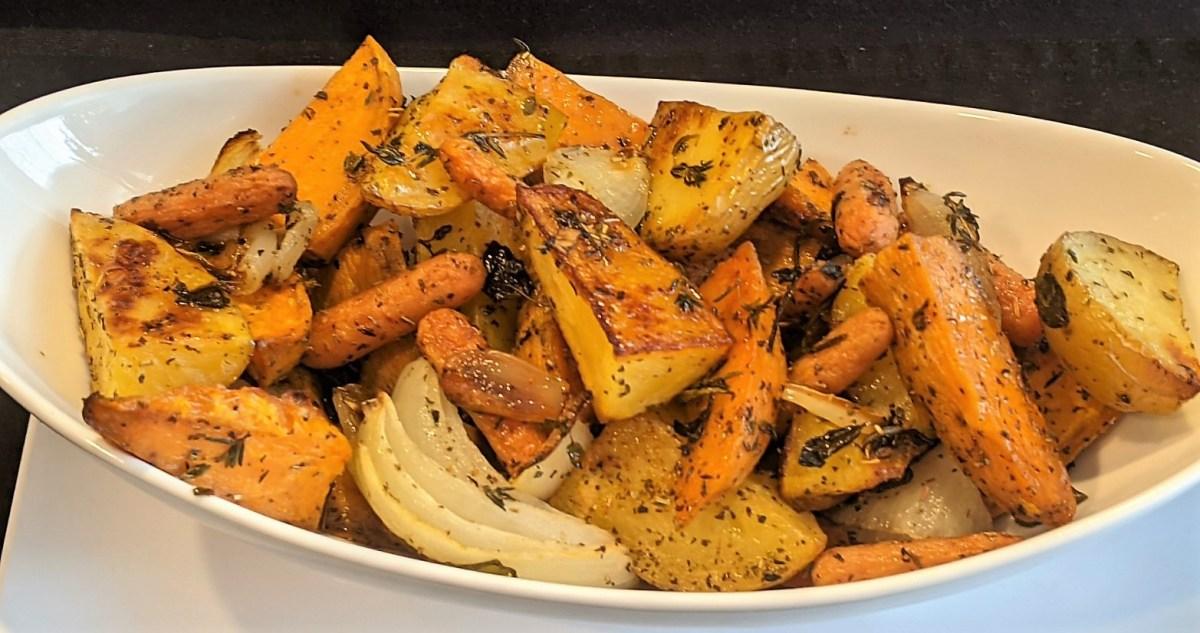 Vegetables in serving bowl