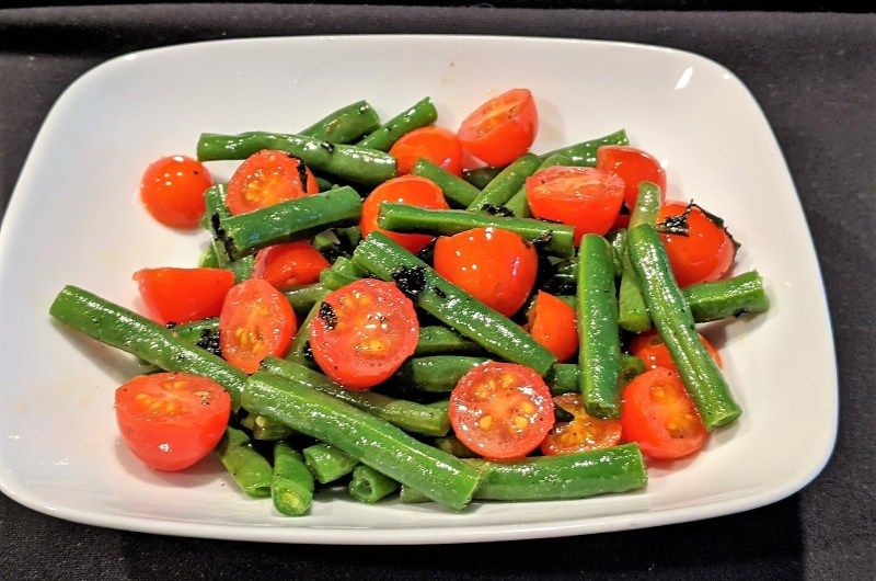 Green Beans with Grape Tomatoes