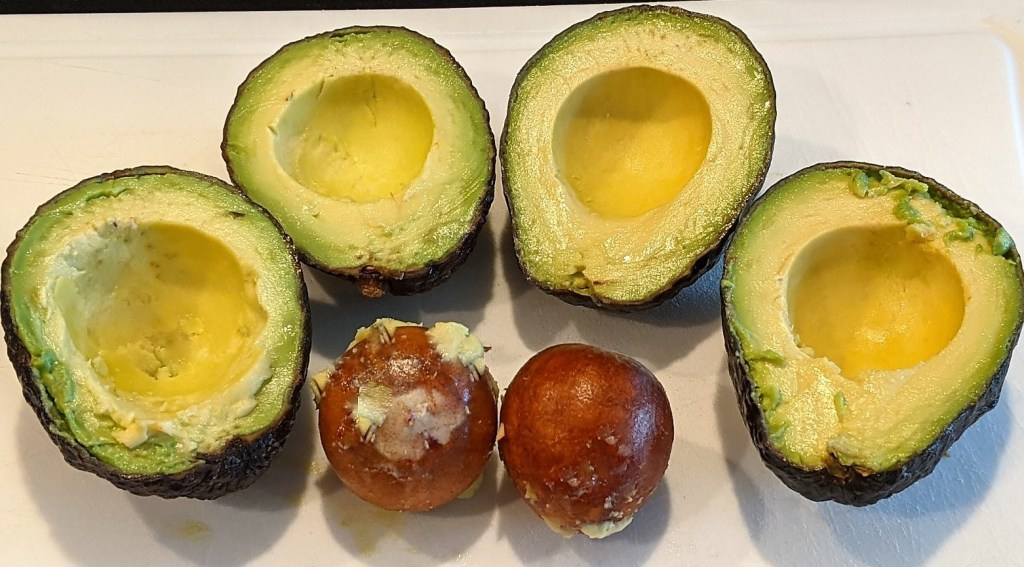 pitted avocados