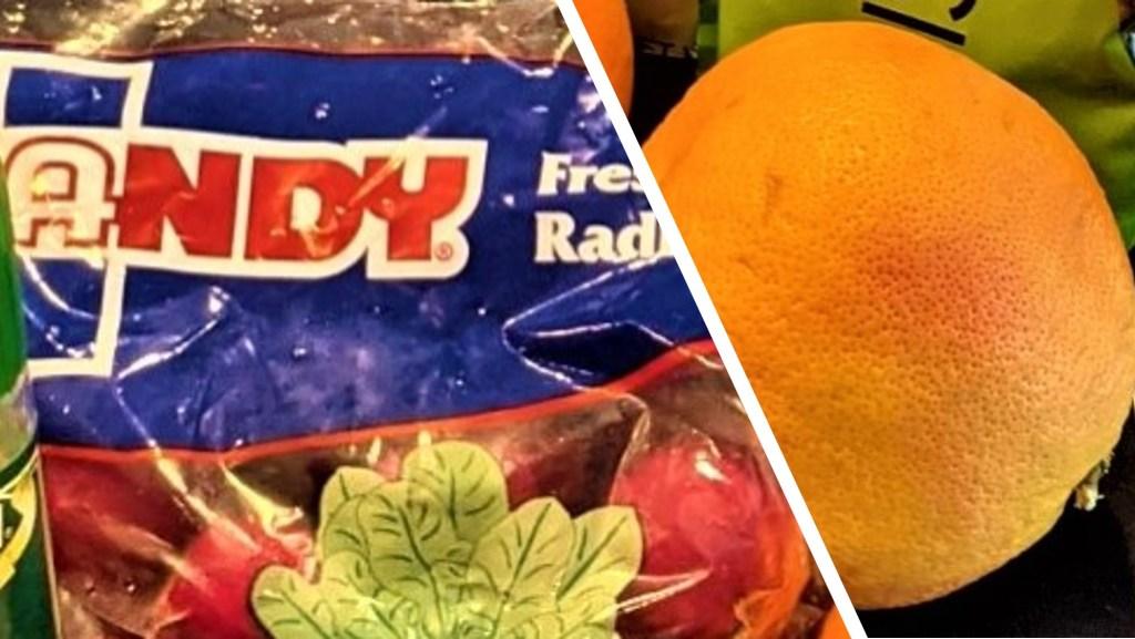 Radishes and grapefruit