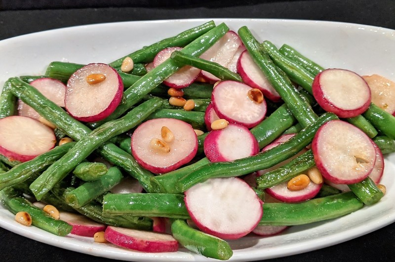 Sauteed Green Beans with Radishes