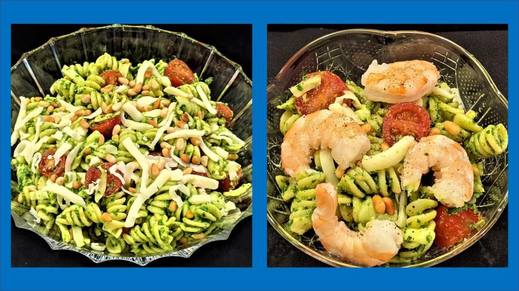 Pasta and pasta with sprimp