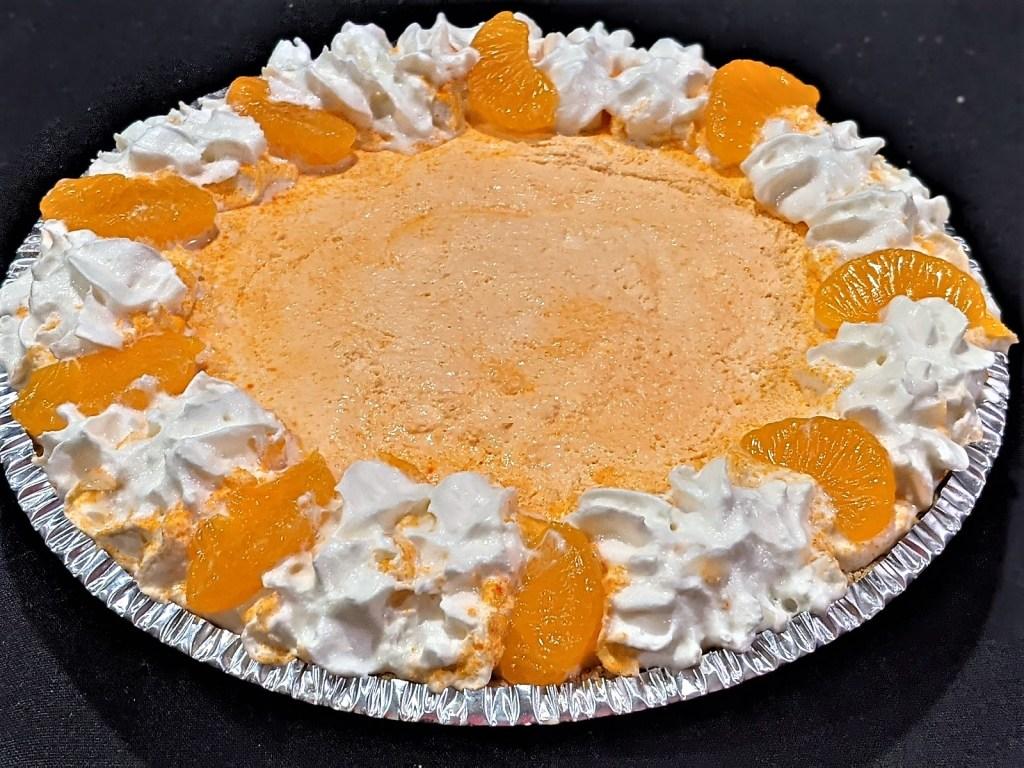 garnished pie