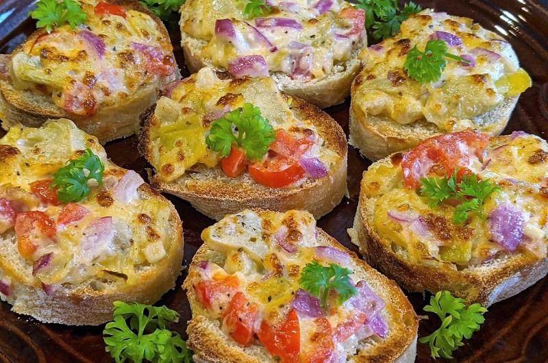 Artichoke Baguette Appetizer