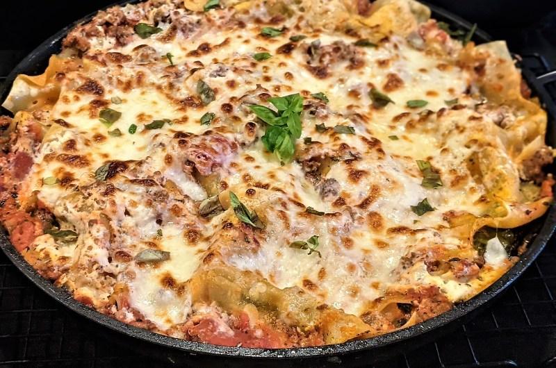 One-Pan Spinach Lasagna