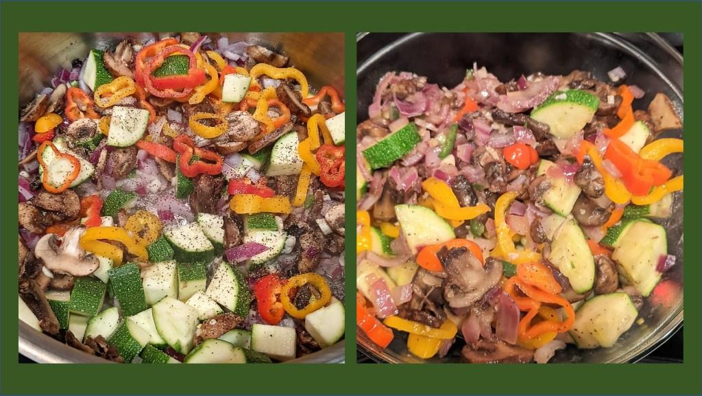 Cooking veggies in pot