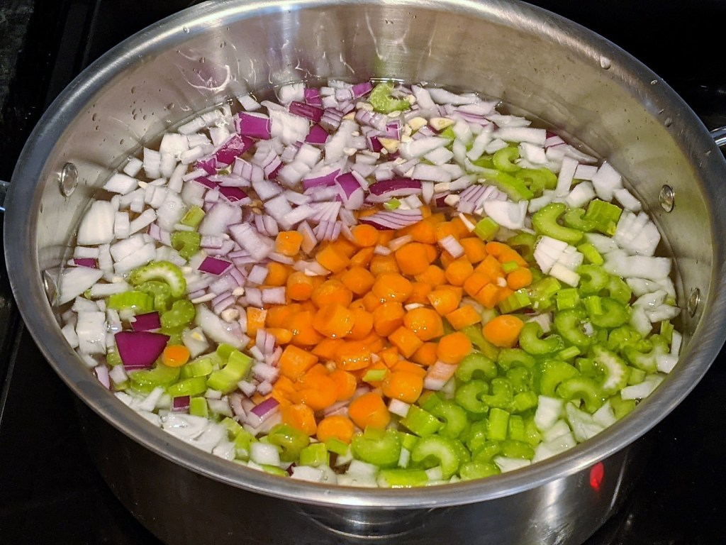 pot with veggies and beans