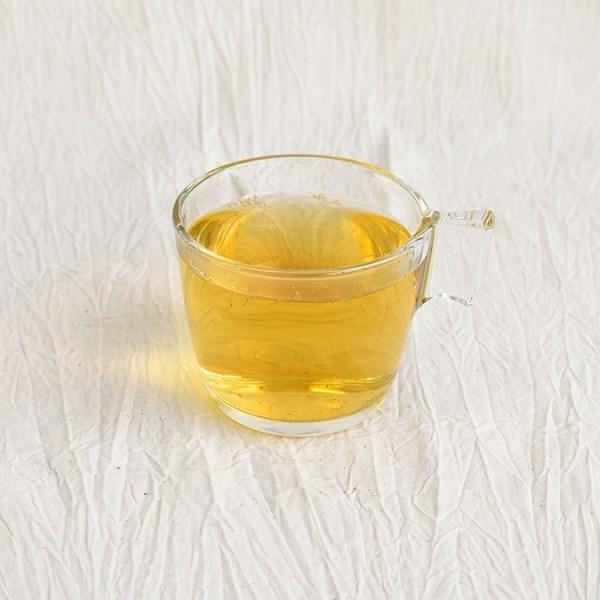 Chamomile tea in a glass