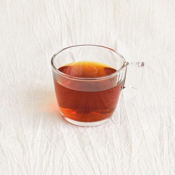 Earl grey tea in a glass