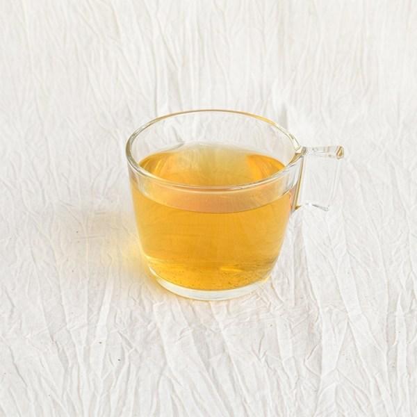 Jasmine green tea in a glass