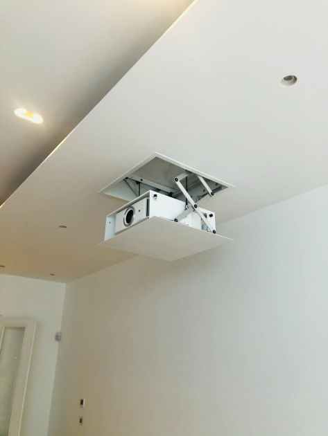modern projector built in ceiling