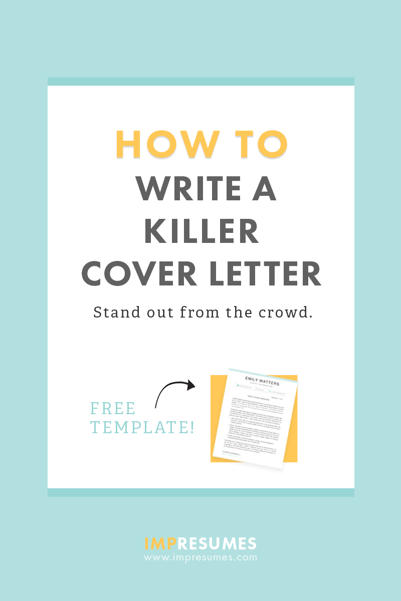 How To Quickly Write a Killer Cover Letter  Impresumes  Resume Templates and Career Help for