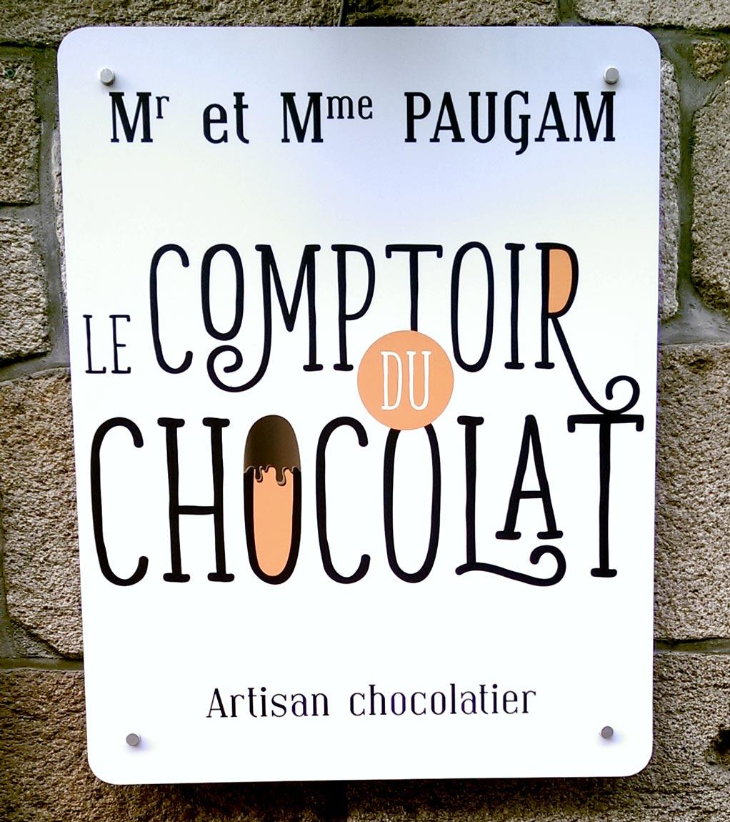 Plaque aluminium composite - Le comptoir du chocolat