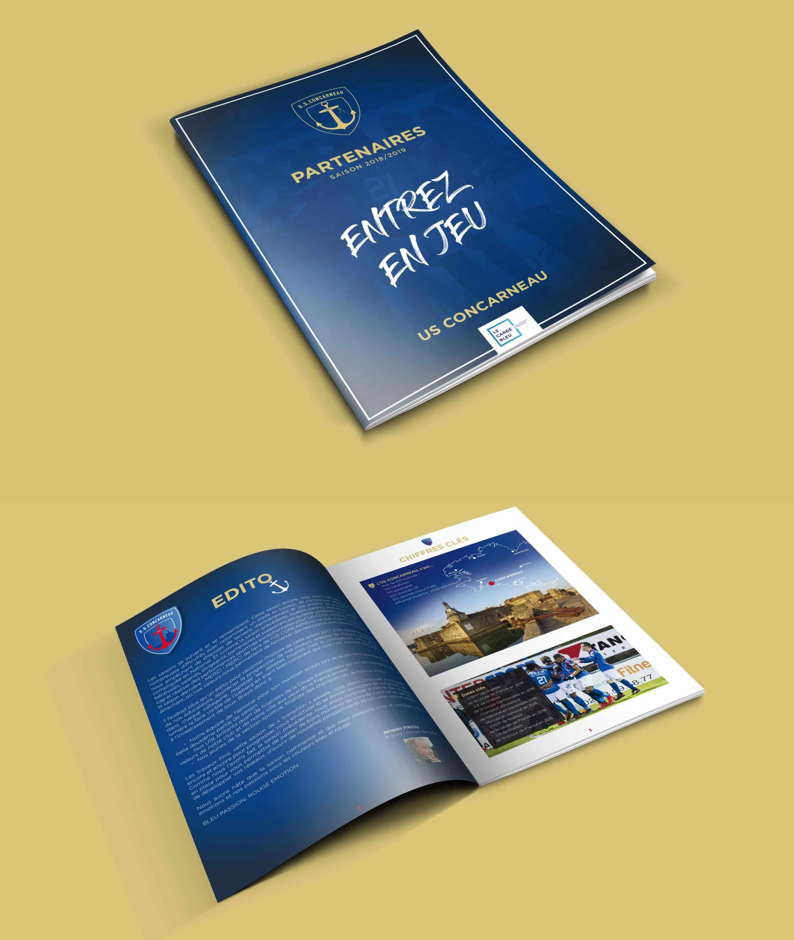 """Brochure commerciale """"partenaires"""" format A4 - USC Concarneau"""
