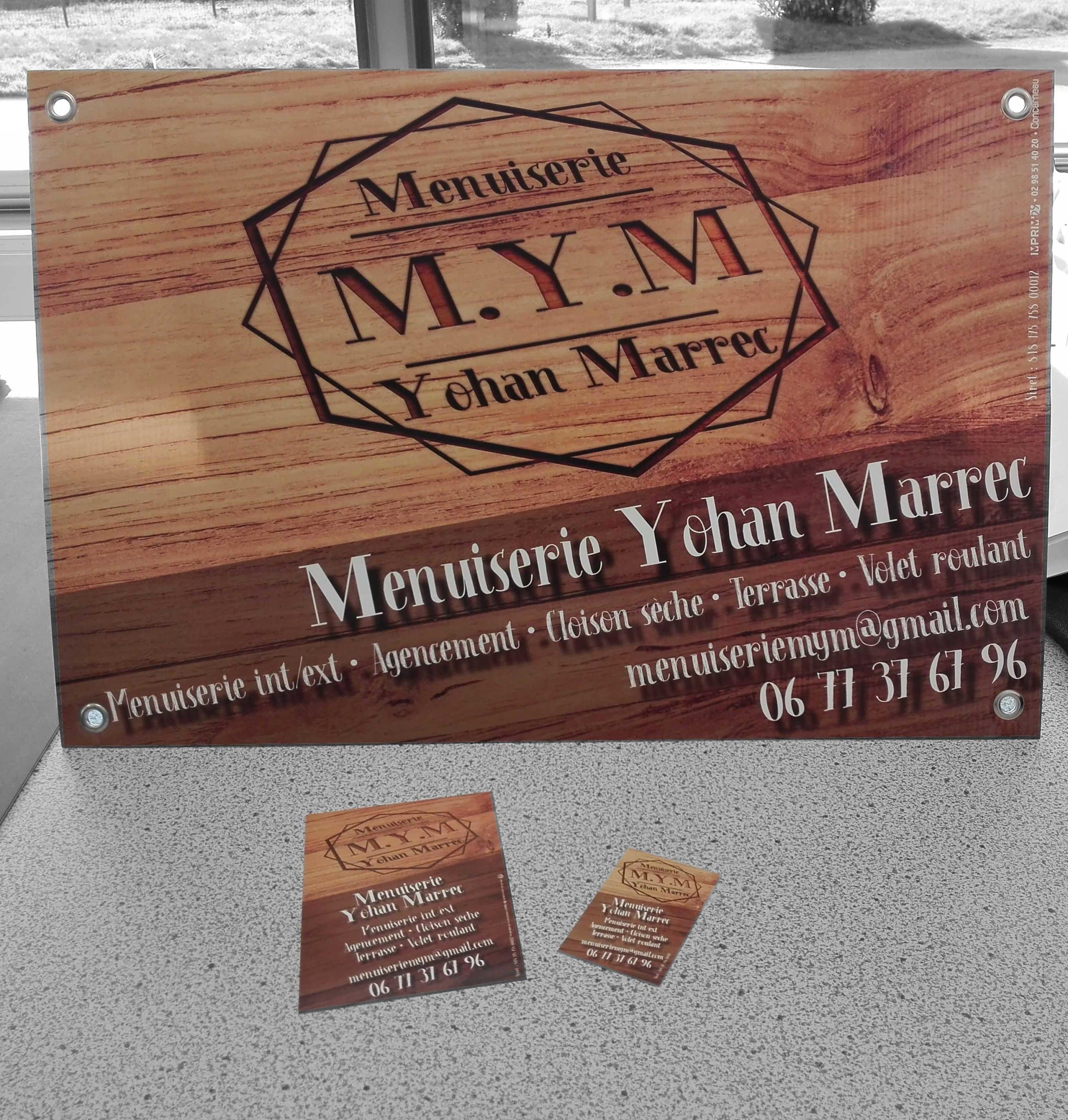 Panneaux de chantier, cartes et flyers - M.Y.M.