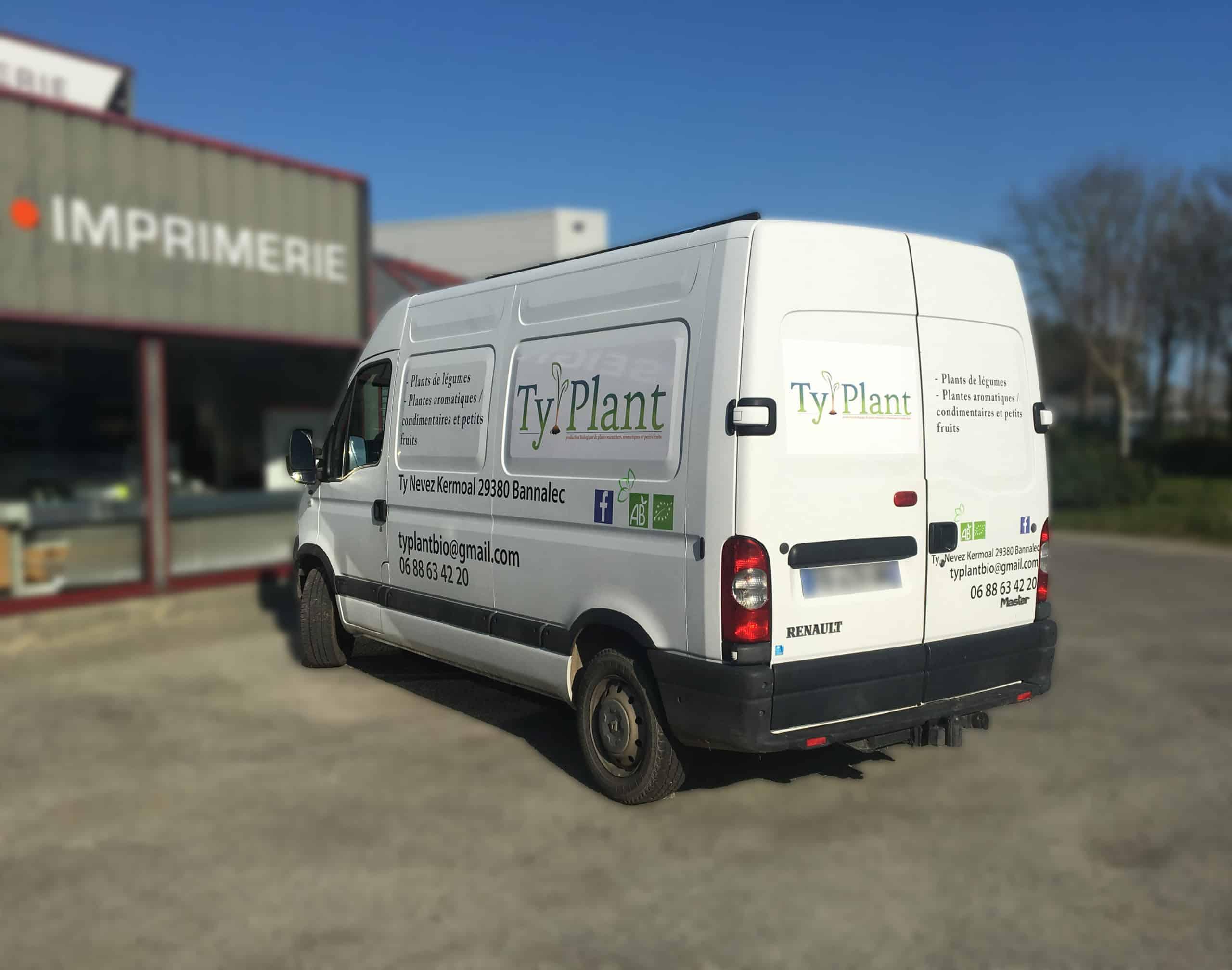 Marquage véhicule - Ty Plant - Bannalec