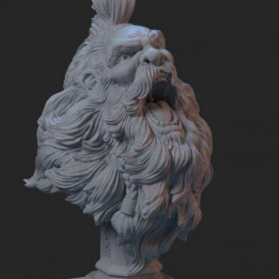 Sculpura imprimata 3d prin tehnologie SLA