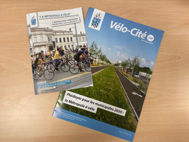 """Le plaidoyer """"la Métropole à vélo"""" de l'association Vélo Cité. Crédit : Thomas Gropallo."""