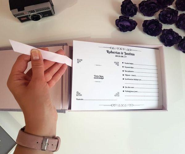 Palinkėjimų dėžutė su kortelėmis - dežučiu gamyba - imprimera13