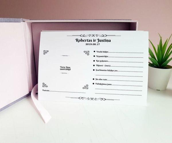 Palinkėjimų dėžutė su kortelėmis - dežučiu gamyba - imprimera5