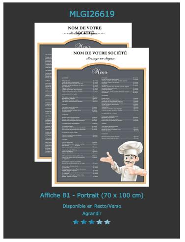 affiche publicitaire restaurant
