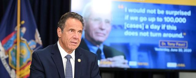 Governor Cuomo Holds A Coronavirus Update in New York City