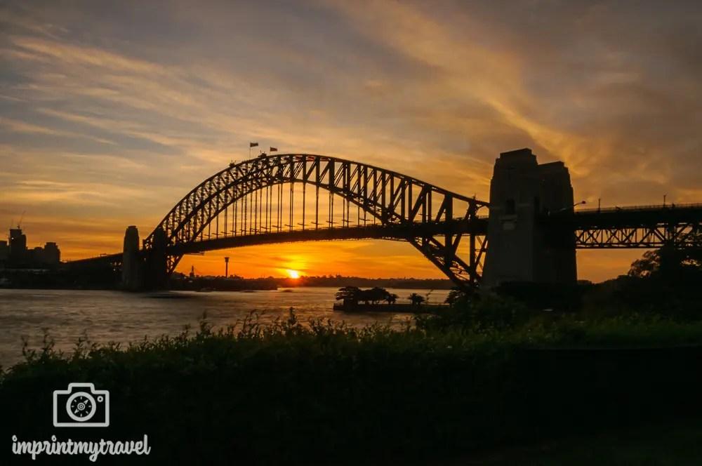 Highlights in Sydney: Sonnenuntergang Harbour Bridge