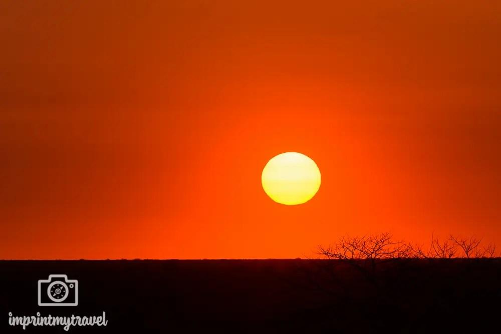 Etosha Nationalparl: Sonnenuntergang