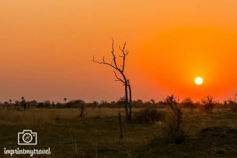 Fotoreise Tansania Sonnenuntergang