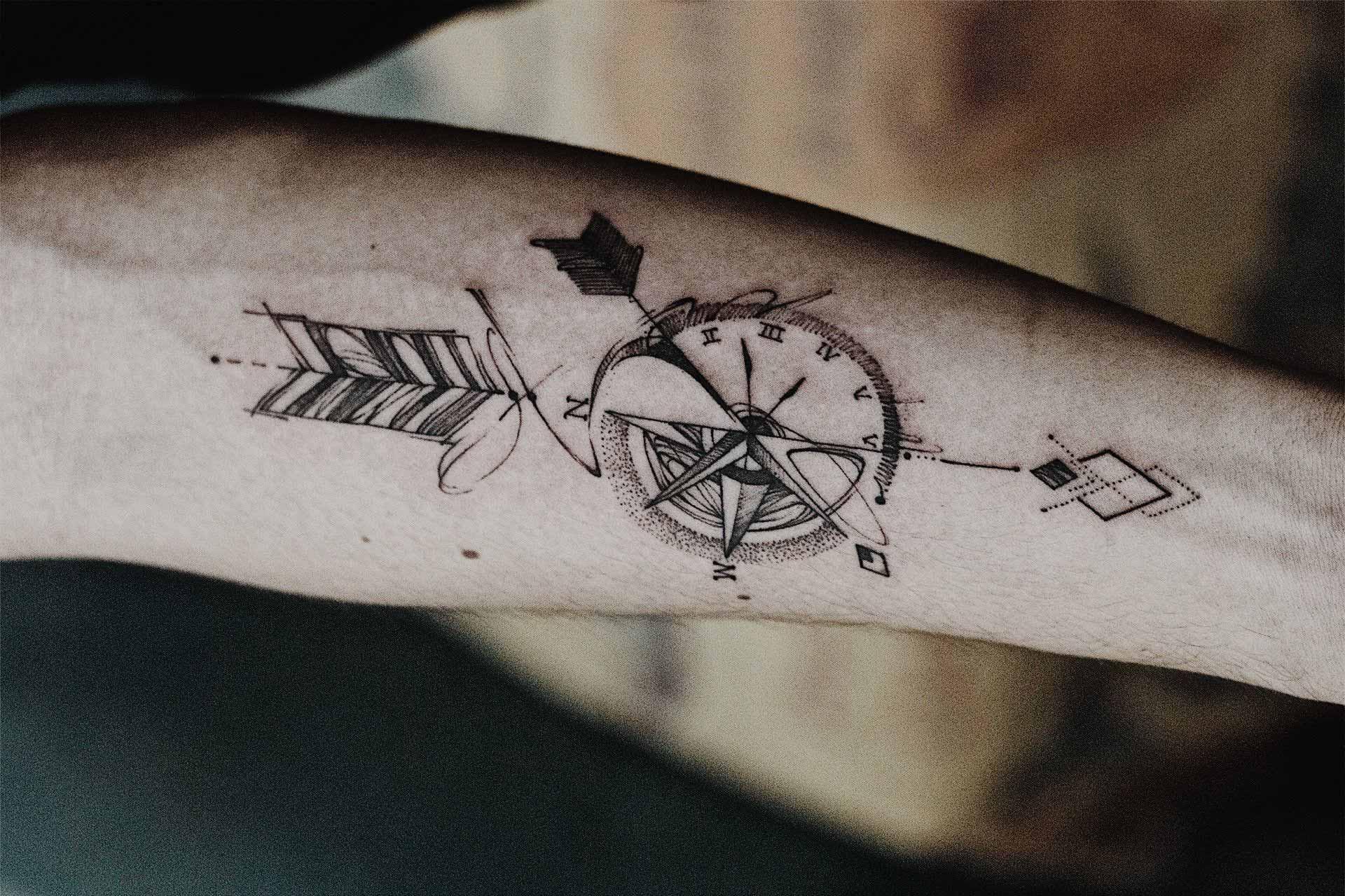 120 best compass tattoos