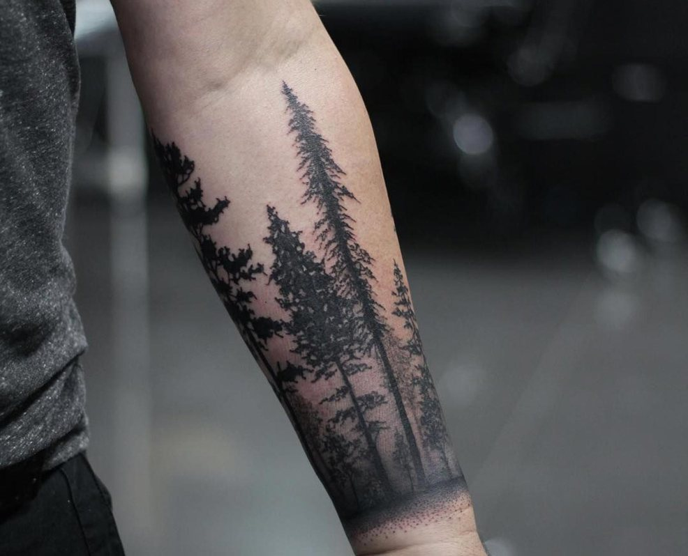 115 Forest Tattoo Designs For Men Improb