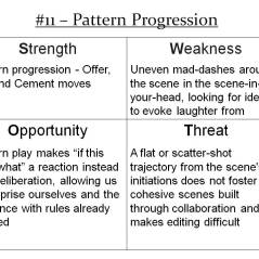 More Info: http://improvdoesbest.com/2013/03/19/swot-11-pattern-progression/