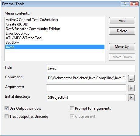 Compiling Java in Visual Studio   Mark S. Rasmussen