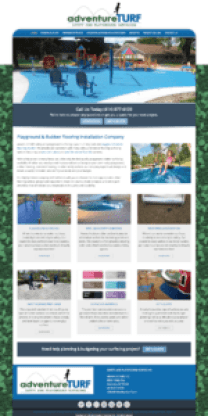 Screenshot of AdventureTURF Playground Surface Installers Homepage