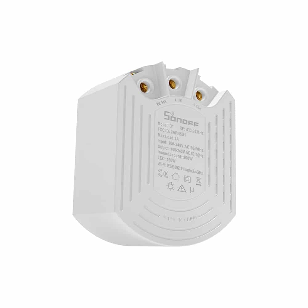 Sonoff D1 šviesos intensyvumo reguliatorius