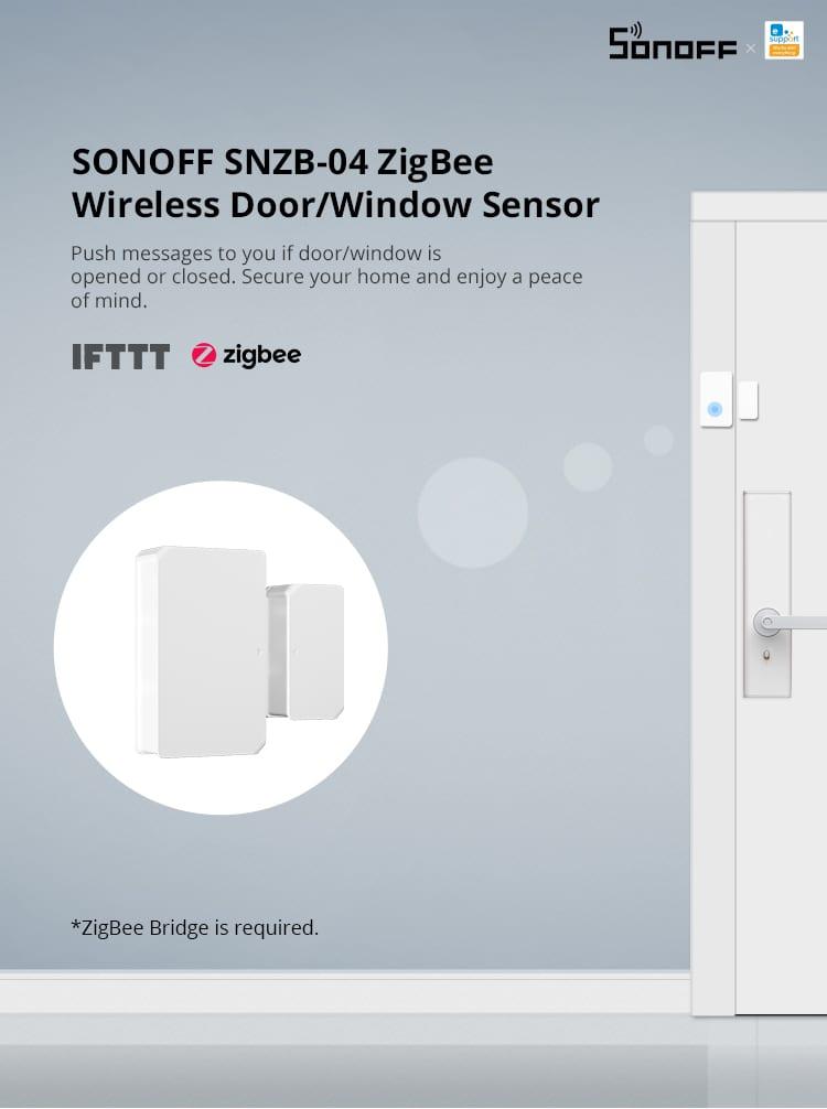 SONOFF SNZB-04 ZigBee instrukcija