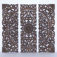 Carved Triptych Wall Art   Improvements