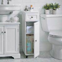 Weatherby Bathroom Corner Storage Cabinet | Improvements