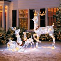 Twinkling Lighted Reindeer Family | Improvements