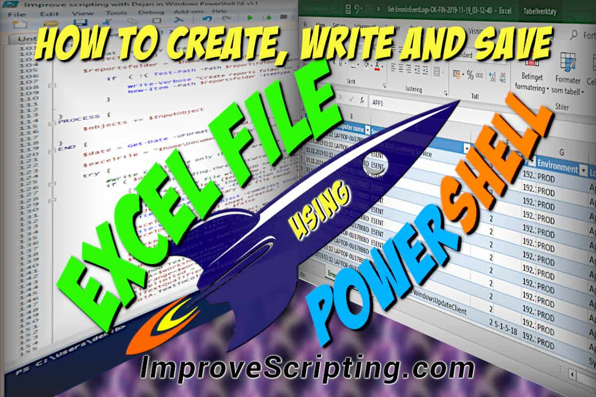 How To Create Write And Save An Excel File Using