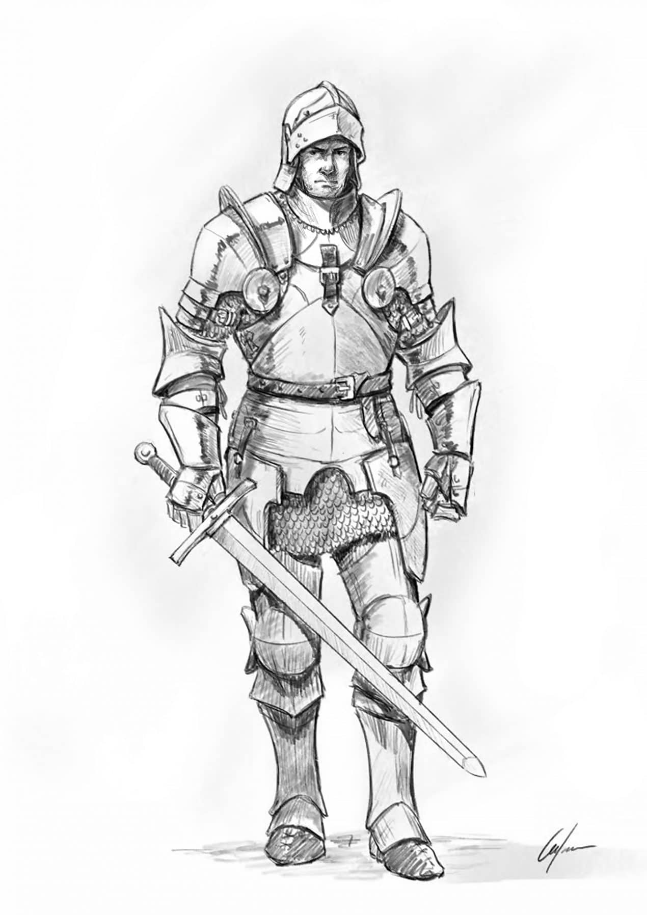 Drawing Of Armor : drawing, armor, Knight, Tutorial