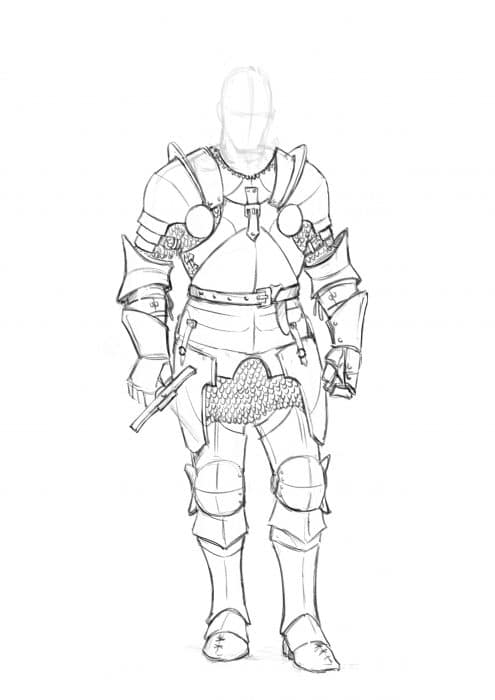 How to draw a Knight . Step by Step Tutorial
