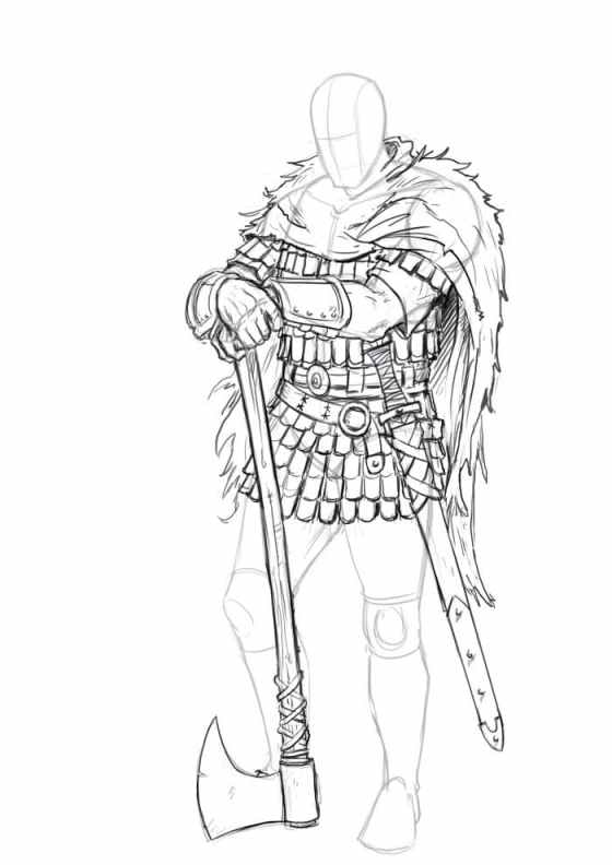 How To Draw a Viking . Easy To Follow Step By Step Tutorial